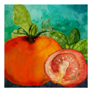 Tomate-Aquarell durch ozias Poster