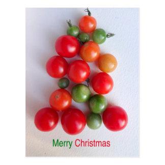 Tomate-Weihnachtsbaum-Postkarte 2016 Postkarte