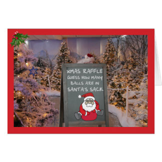 Tombola drôle de Noël Carte De Vœux