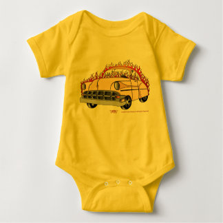 Ton '54 Chevy der Beige-zwei im Flammen-Baby Baby Strampler