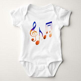 Ton von Musik - Tanzen-Symbole Baby Strampler