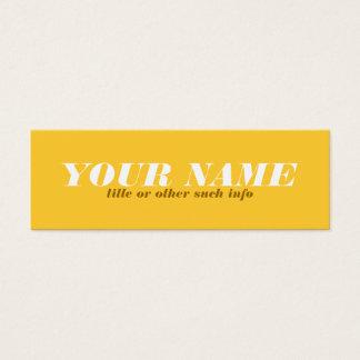Tonal gelber Ocker-Telefonkarte Mini Visitenkarte