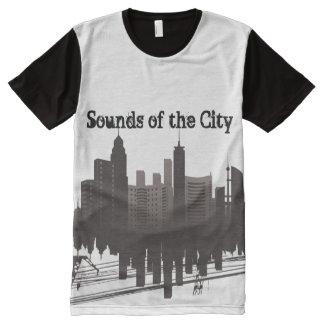 Töne der Stadt 101 T-Shirt Mit Komplett Bedruckbarer Vorderseite