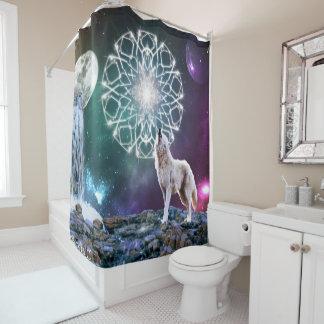 Töne des Universums Duschvorhang