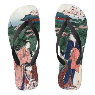 Tongs Style japonais de cru d'art