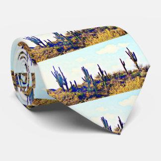Tonto Saguaros auf Hügel-Krawatte Individuelle Krawatte