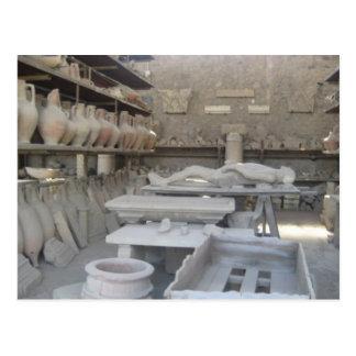 Tonwaren-Raum in Pompeji Postkarte