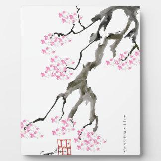 tony fernandes Kirschblüte mit rosa Goldfisch Fotoplatte