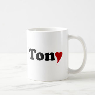 Tony mit Herzen Kaffeetasse