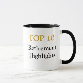 Top 10 Ruhestands-Höhepunkte - Ruhestands-Witz Tasse