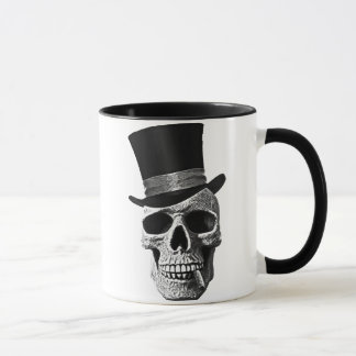 Top hat skull tasse
