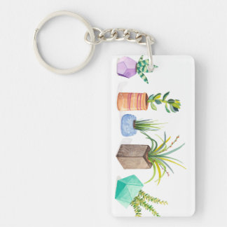 Topf Succulents Schlüsselanhänger