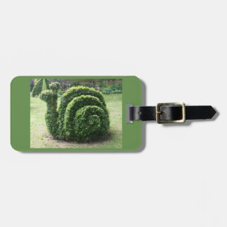 Topiarygartenschnecke-Gepäckaufkleber Kofferanhänger