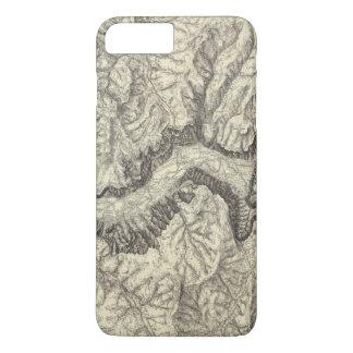 Topographische Karte des Yosemite-Tales iPhone 8 Plus/7 Plus Hülle