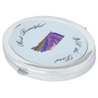 Topographische Schönheit Taschenspiegel