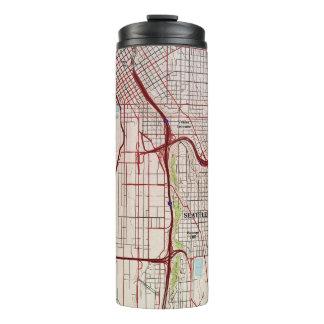 Topographische Stadt-Karte Seattles Thermosbecher