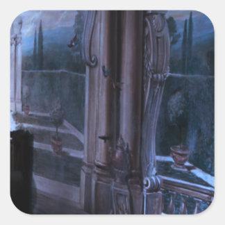 Tor-Windows-Brücken-künstlerische Quadratischer Aufkleber
