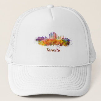 Toronto V2 skyline im Watercolor Truckerkappe
