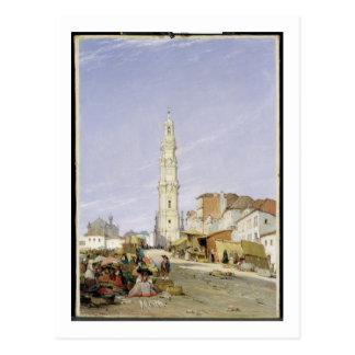 Torre DOS Clerigos, Oporto, Portugal, 1837 (Öl an Postkarte