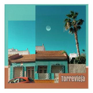 Torrevieja in der Orange und im Türkis Acryldruck
