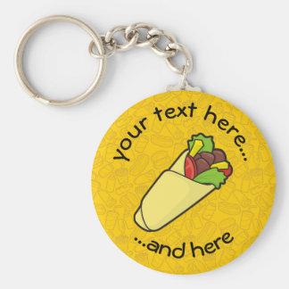 Tortilla-Sandwich-Verpackung Schlüsselanhänger