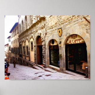 Toskana. Italien. Cortona Poster