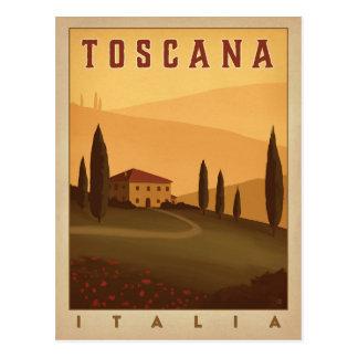 Toskana, Italien Postkarte