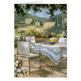 Toskana-Terrasse Grußkarte