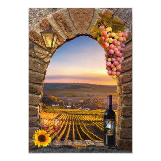 Toskanischer Wein-Themed Geburtstags-Party 12,7 X 17,8 Cm Einladungskarte