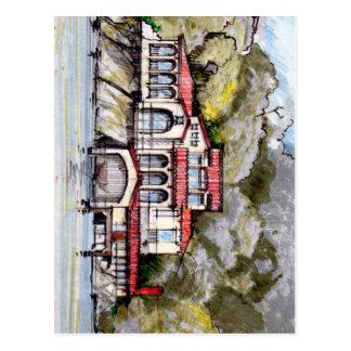 Toskanisches Art-Landhaus auf der Ufergegend Postkarte
