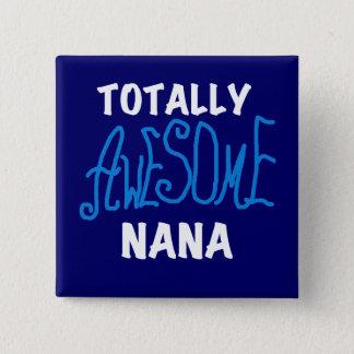 Total fantastische blaue T - Shirts und Geschenke Quadratischer Button 5,1 Cm