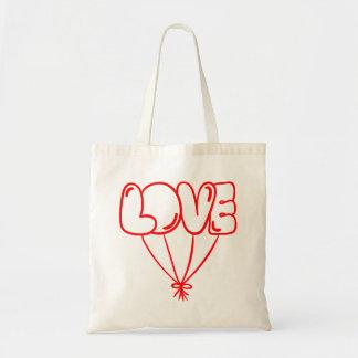 Tote Bag Ballons rouges d'amour - mariage, douche nuptiale