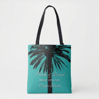 Tote Bag Jeune mariée tropicale de destination de mariage