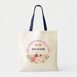 Tote Bag Le mariage coloré fleurit le bouquet et le texte