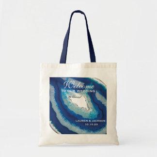 Tote Bag Mariage bleu d'agate