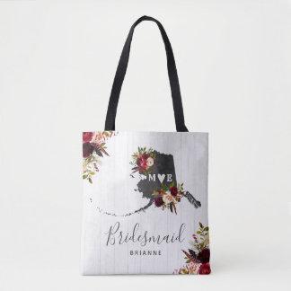 Tote Bag Monogramme rustique de mariage de destination