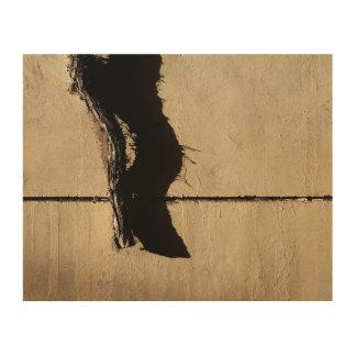Tote Efeu-Rebe und Schatten Holzleinwand