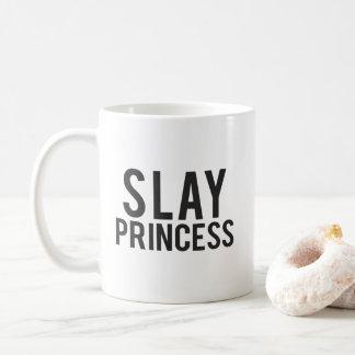 Töten Sie Prinzessin Black Print Kaffeetasse