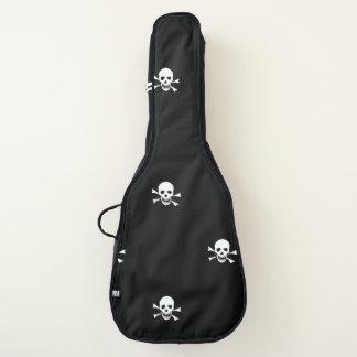 Totenkopf mit gekreuzter Knochengitarrentasche, Gitarrentasche