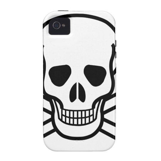 Totenkopf mit gekreuzter Knochentodessymbol Case-Mate iPhone 4 Hüllen