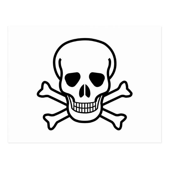 Totenkopf mit gekreuzter Knochentodessymbol Postkarte