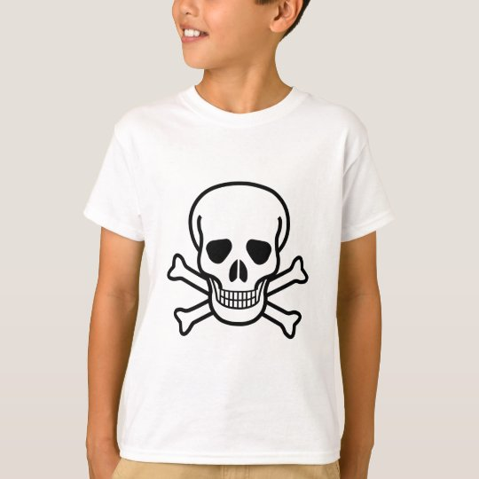 Totenkopf mit gekreuzter Knochentodessymbol T-Shirt