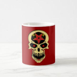Totenkopf Schädel Pentagramm skull pentacle Kaffeetasse