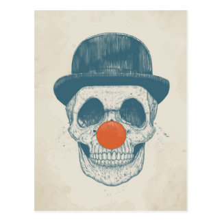 Toter Clown Postkarte