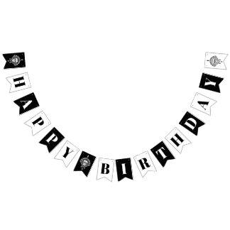 Toter Damast-schwarze u. weiße alles- Gute zum Wimpelketten