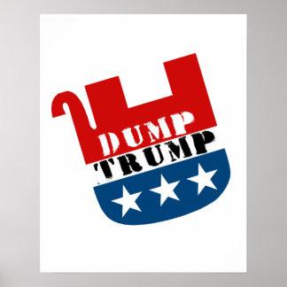 Toter Elefant - Dump-Trumpf - Anti-Trumpf - Poster