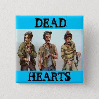 Toter Herz-Roman - Zombie-Knopf Quadratischer Button 5,1 Cm