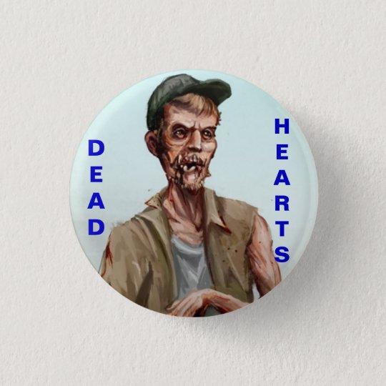 Toter Herz-Roman - Zombie-Knopf Runder Button 2,5 Cm