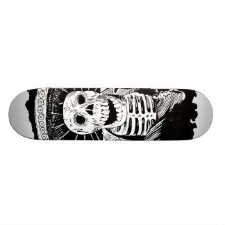 Toter mexikanischer wütender Mariachi-Schädel Skateboard Deck