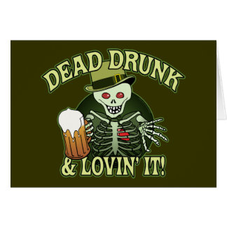Totes betrunkenes Skelett Karte
